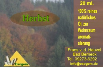 Herbstöl Ätherische Ölmischung 20 ml