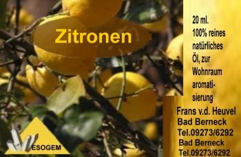 Zitronenöl 20 ml