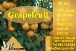 Grapefruitöl 20 ml
